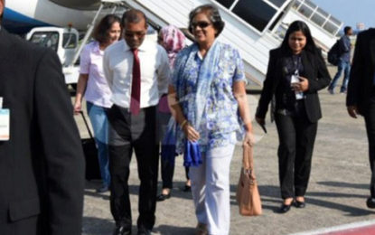 Chandrika in Maldives for Solih's inauguration