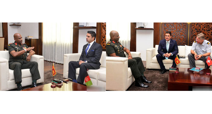 Afghan, Swiss Envoys hold talks with Army Chief on matters of bilateral importance