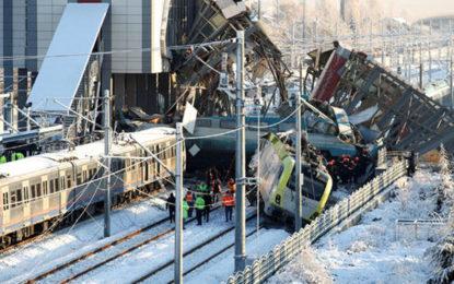 9 killed, dozens hurt as train hits locomotive, overpass in Turkey