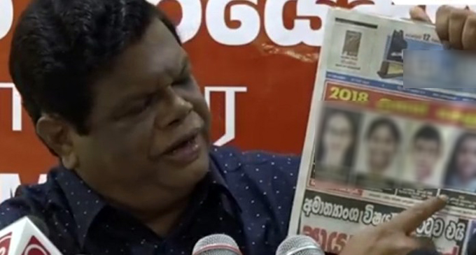 Bandula criticised over comments on A/L student