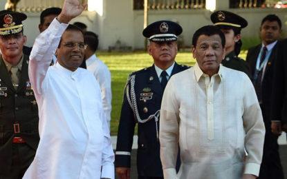 Activists decry Sri Lankan President's praise for Duterte's drugs war