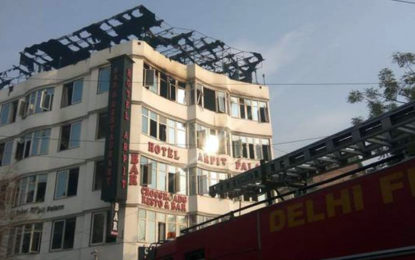 17 Killed in massive fire at New Delhi hotel
