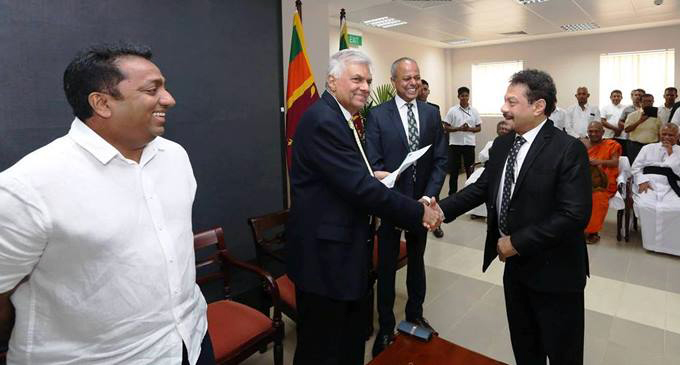 Rookantha appointed UNP's Organiser of Dambadeniya Electorate