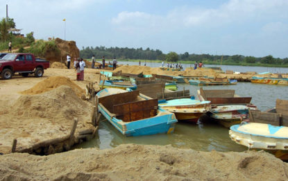 Sand mining permits in Trincomalee District suspended