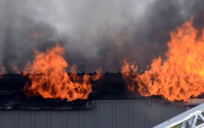 Fire breaks out at building in Pannipitiya