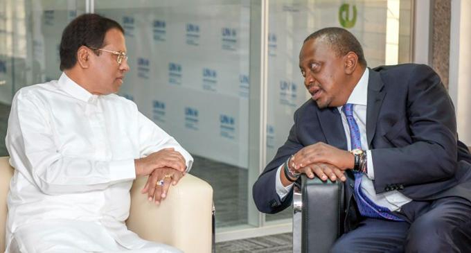 Kenyatta seeks broader ties with Sri Lanka