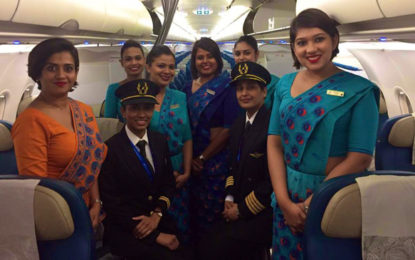 SriLankan Airlines operates first all-female crew flight