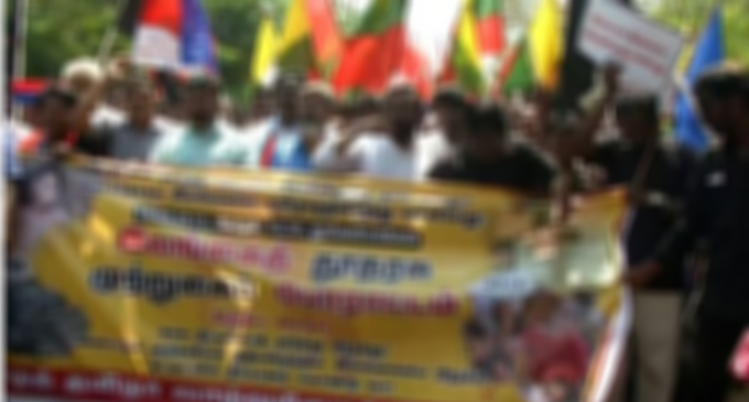 Protest erupt near Lankan Embassy in Tamil Nadu over alleged human rights violations