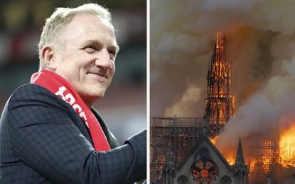 French billionaire pledged 100 million Euros to help rebuild the Notre Dame Cathedral