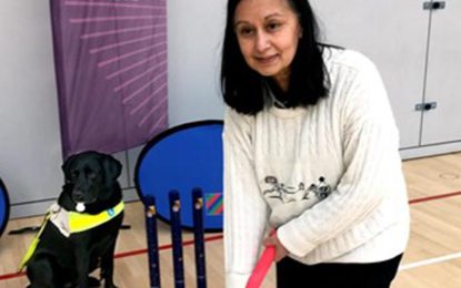 Visually impaired cricket match takes place in Glasgow