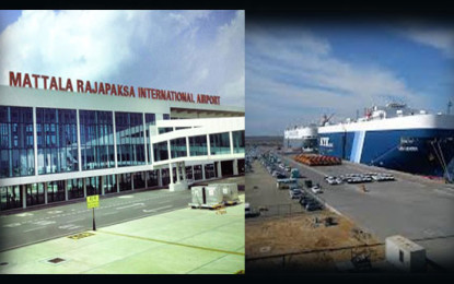Hambantota Harbour & Mattala Airport Funding : China's no to Equity Funding  But yes to Invest in Commercial Terms.