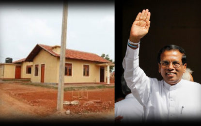 New  Houses  For 100 Families to be Handed Over  by the   President  Today