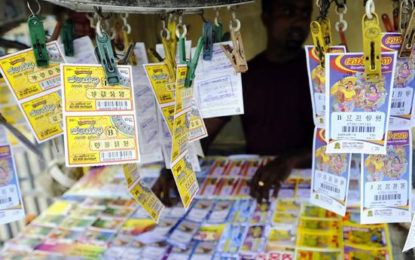 Sale of Lottery Tickets Will  Come to a Standstill