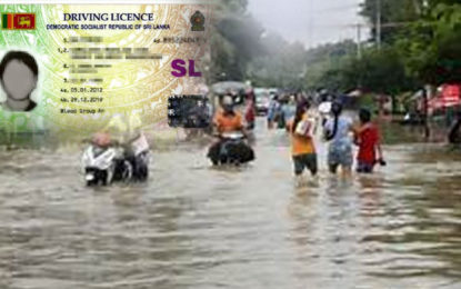 Free of Charges New Driving Licence in Placed of Flood Destroyed One