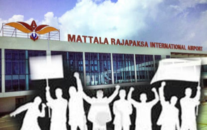 Protest Demonstration In Front of Mattala International Airport