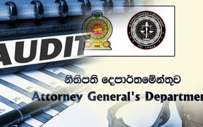 Audit Act Before Attorney-General's Dept.