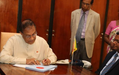 Speaker Signed LG  Election Bill