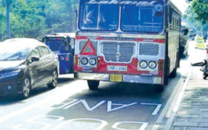 Introduction of Priority bus lanes from Aug. 15