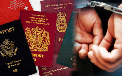 Arrest of a Person in Possession of 5 Passports