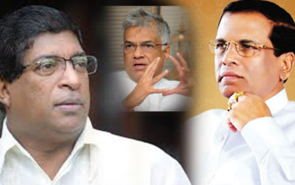 President, Prime Minister and FM Ravi Karunanayake in Crucial Discussion?