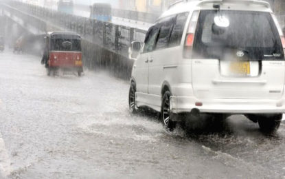 150 mm of Rainfall Expected in South Eastern Parts of the Island