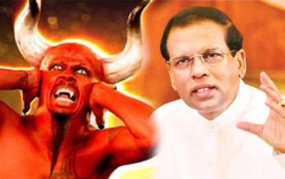 """To whom Maithree Referred to as """"Devil"""" during his Recent Jaffna Visit?"""