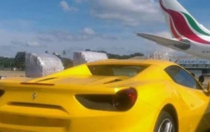 A Super Luxury Car Cost Rs 100 million Arrives at Katunayake Airport?