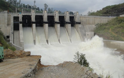 Incessant Rain Compelled to Open Three Spill Gates of Upper Kotmale Dam Today