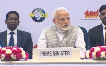 PM Narendra Modi Inaugurates World Sustainable Development Summit 2018