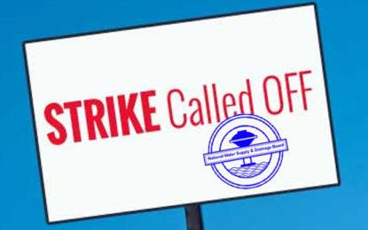 Water Board Employees Strike Called Off