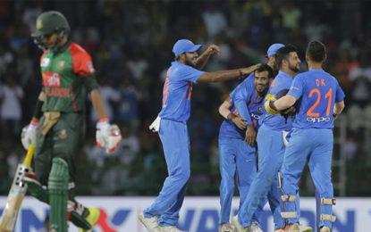 Nidahas Trophy Final: 167-run Target Set by Bangladesh to India