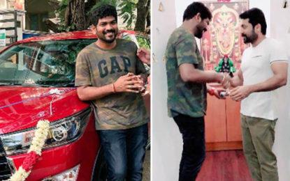 Suriya Gifts a Car to Thaana Serndha Kootam Director Vignesh Shivn, See Photos