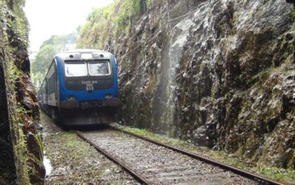 Train services on upcountry railway line delayed