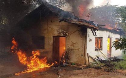 Fire in Puttalam municipality warehouse