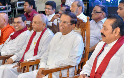 """""""New Government this year; UNP is not led by its leader,"""" President says"""