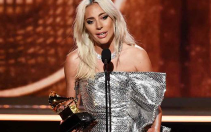 Lady Gaga wears Platinum jewellery to the 61st Grammy Awards