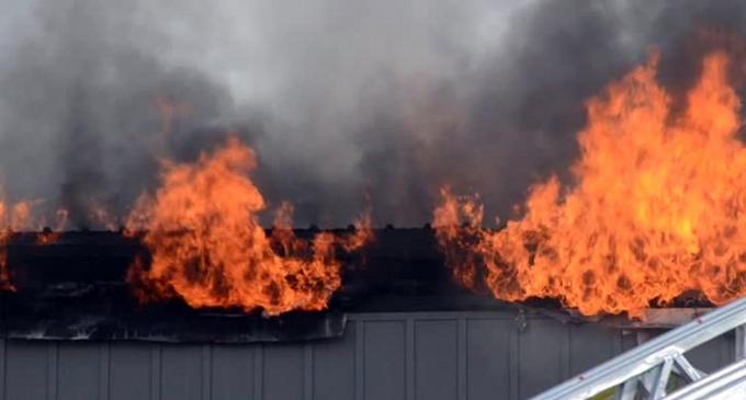 Fire at a shop in Ja-Ela