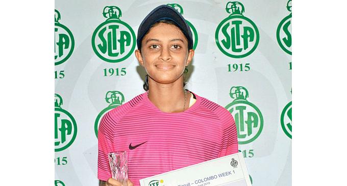 ITF Junior Circuit Week-1 -Anjalika wins singles crown