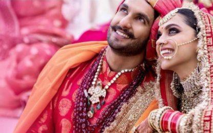 Deepika, Ranveer make perfect couple at wedding