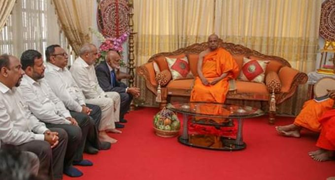 Muslim MPs meeting underway with Ven. Chief Prelates of the Asgiriya & Malwatte Chapters – [IMAGES]