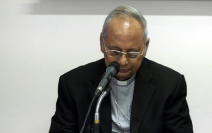 Cardinal remembers Easter Sunday terror attack victims with tears [VIDEO]