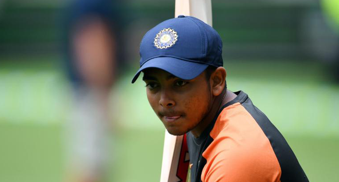 Prithvi Shaw suspended from cricket after doping violation