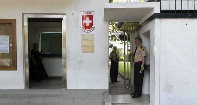 Swiss Embassy local staffer barred from leaving country
