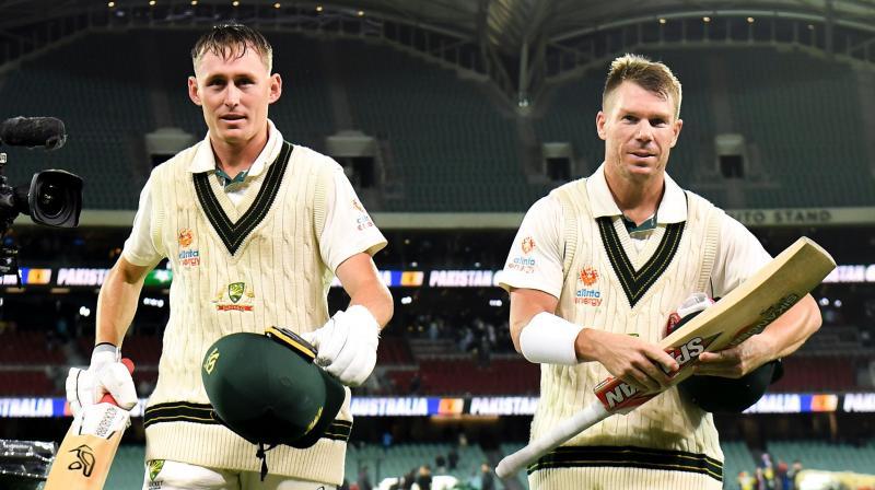 Warner and Labuschagne smack centuries in day-night Pakistan Test