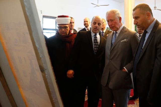 The prince Charles visit the Mosque of Omar, which is named after Caliph Omar -[ IMAGES]