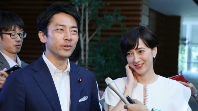 Japan minister's paternity leave challenges work pressure