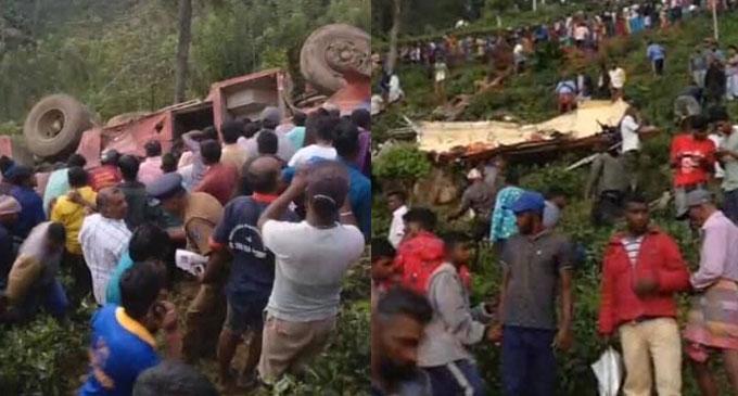 20 injured in a bus accident in Ginigathhena