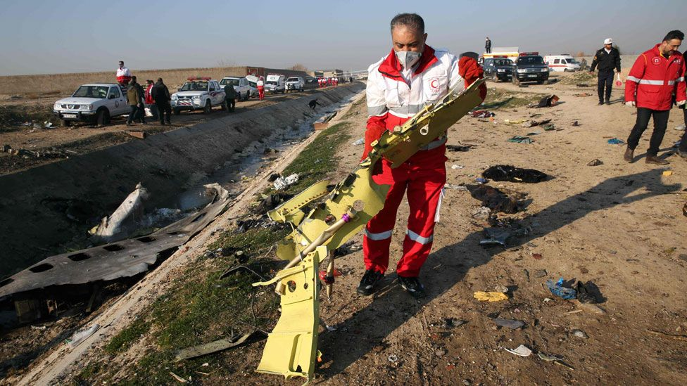 Iran plane crash: Airliner 'was trying to return to airport' – [IMAGES]