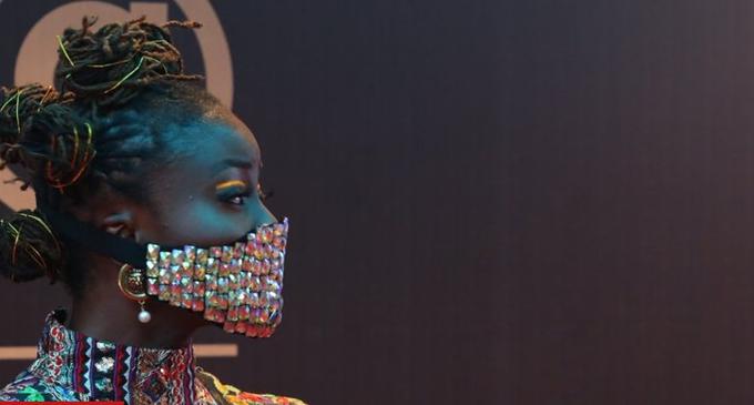Coronavirus: Nigerian celebrities wear blinged-up masks