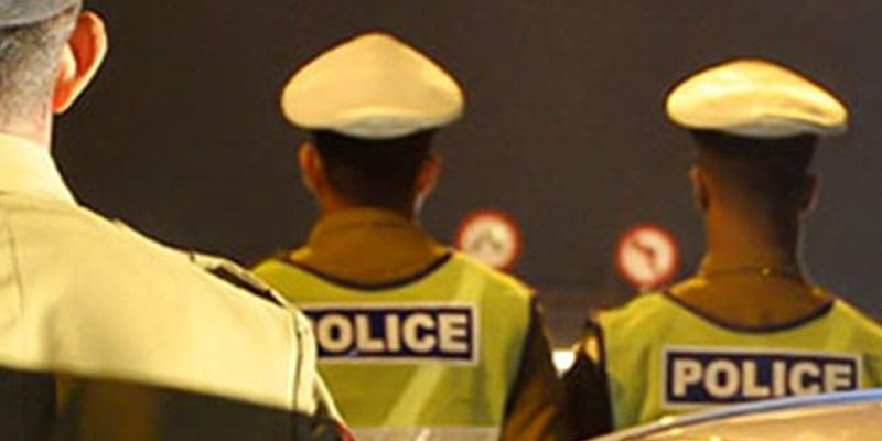 7,654 Policemen on election duty today